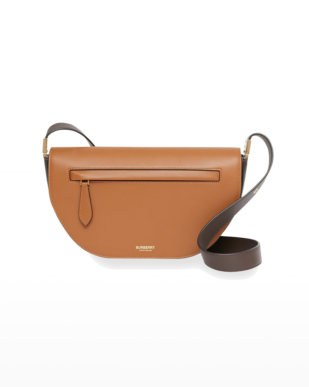 Olympia Small Two-Tone Smooth Leather Crossbody Bag