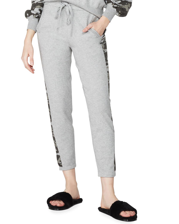 Vintage Sweatpants with Camo Contrast Stripe