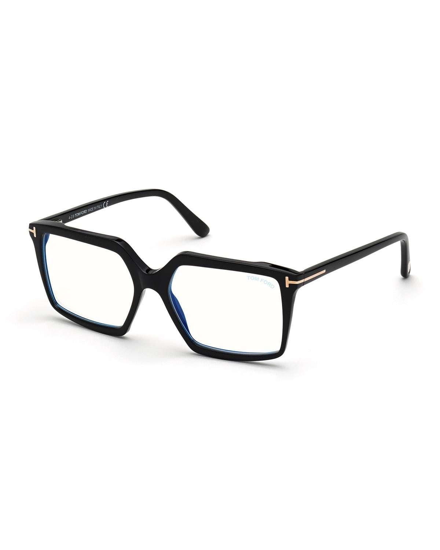 FT5689-BW54 Blue Light Blocking Square Optical Glasses
