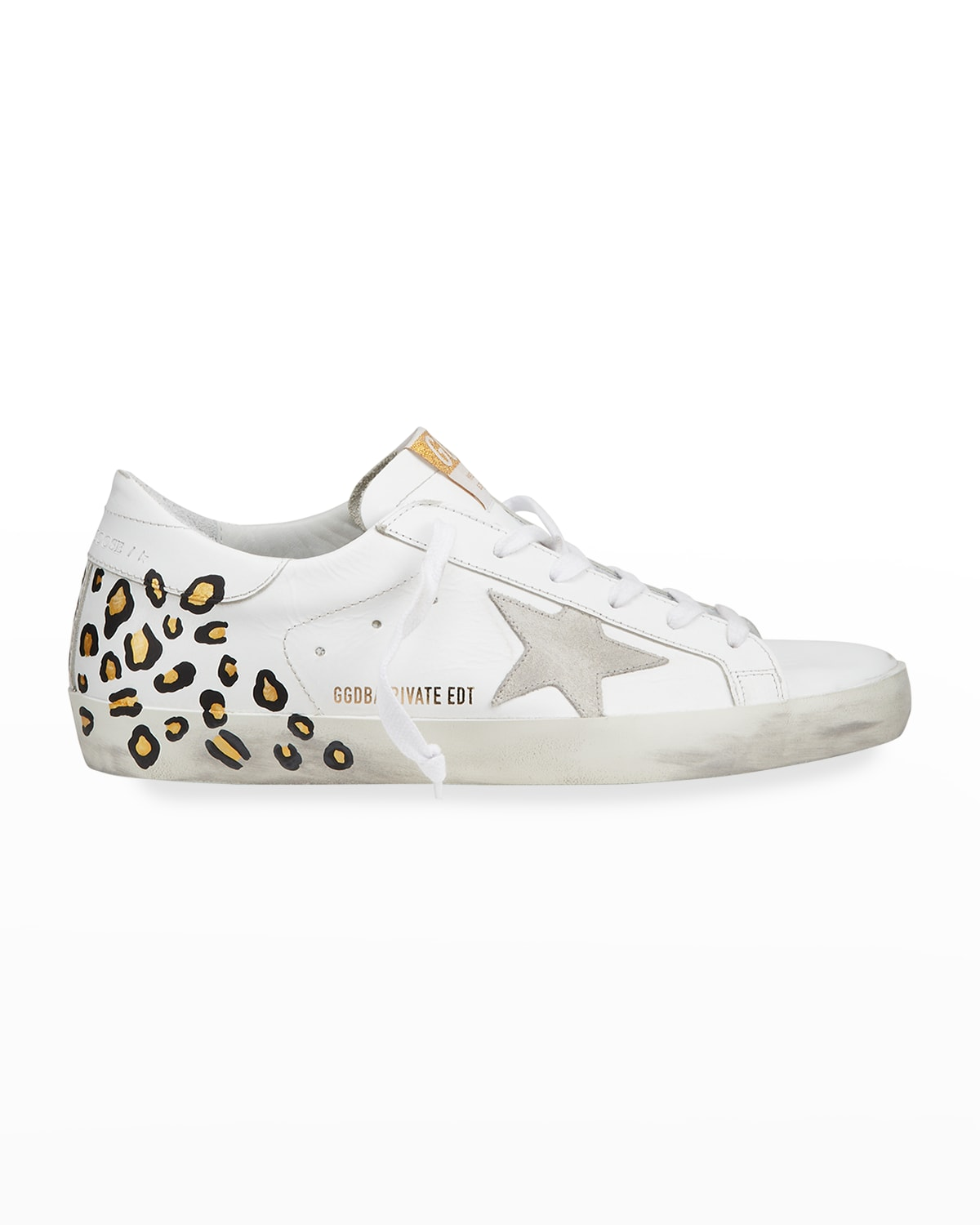 Superstar Hand-Painted Leopard Leather Sneakers