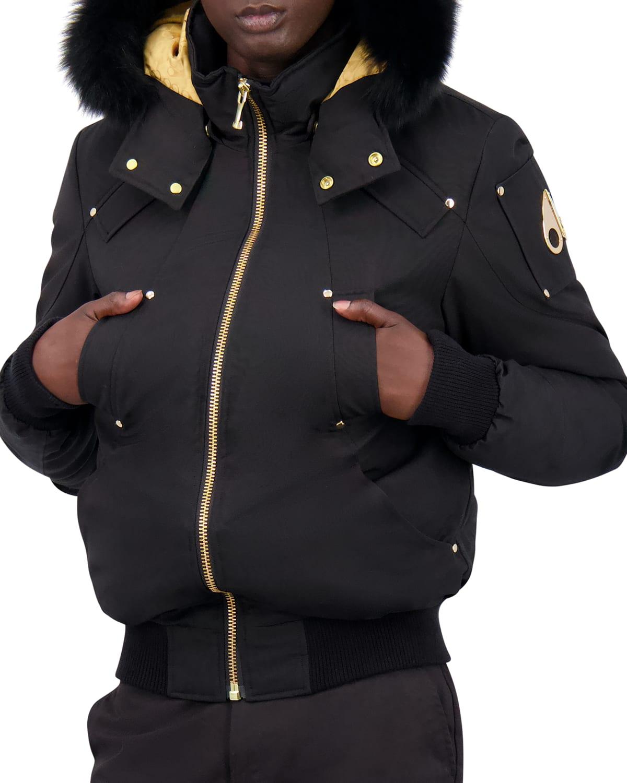 Men's Little Rapids Bomber Jacket w/ Fur Collar