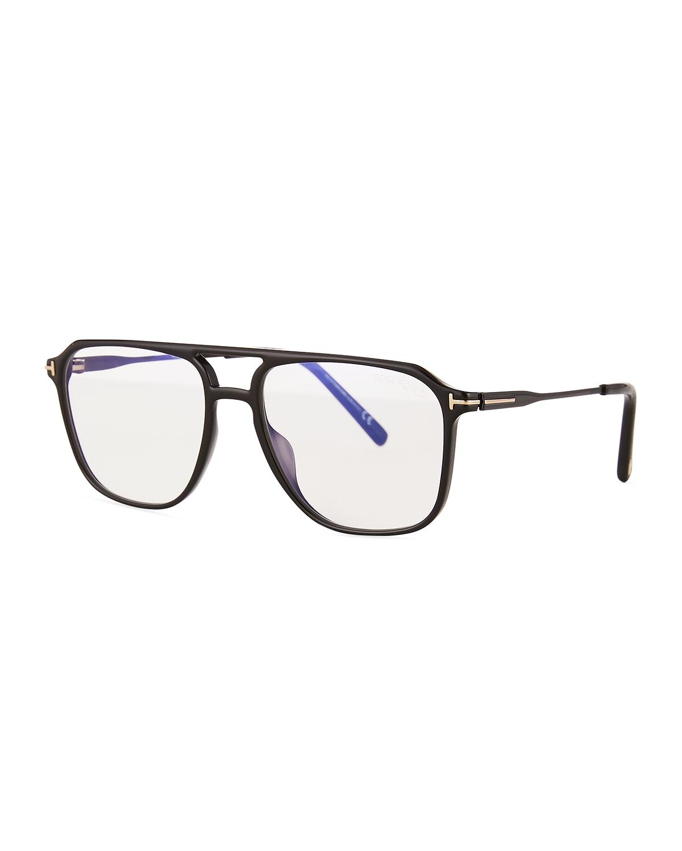 Men's FT5665-BM54 Blue Light Blocking Navigator Optical Glasses