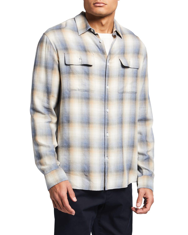 Men's Classic-Fit Shadow Plaid Sport Shirt
