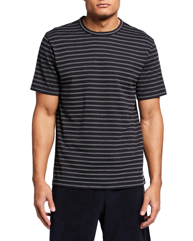 Men's Striped Linen-Cotton T-Shirt
