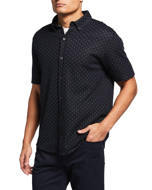 Men's Knit Jacquard Sport Shirt