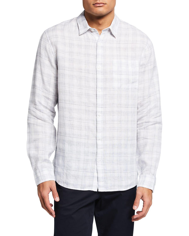 Men's Linen Crosshatch Sport Shirt