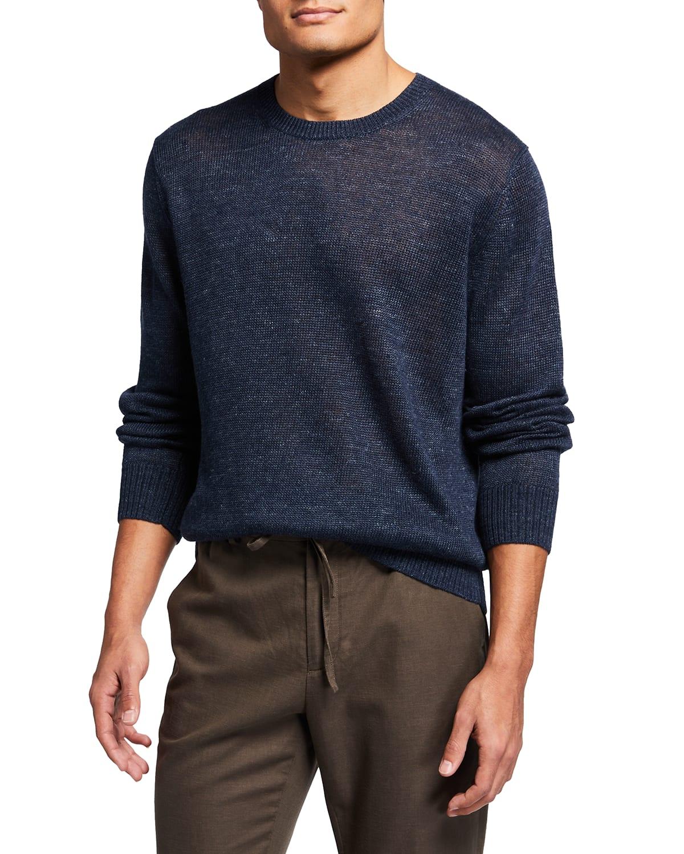 Men's Linen Melange Sweater