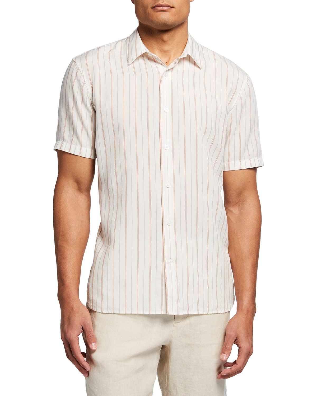 Men's Short-Sleeve Pinstripe Sport Shirt