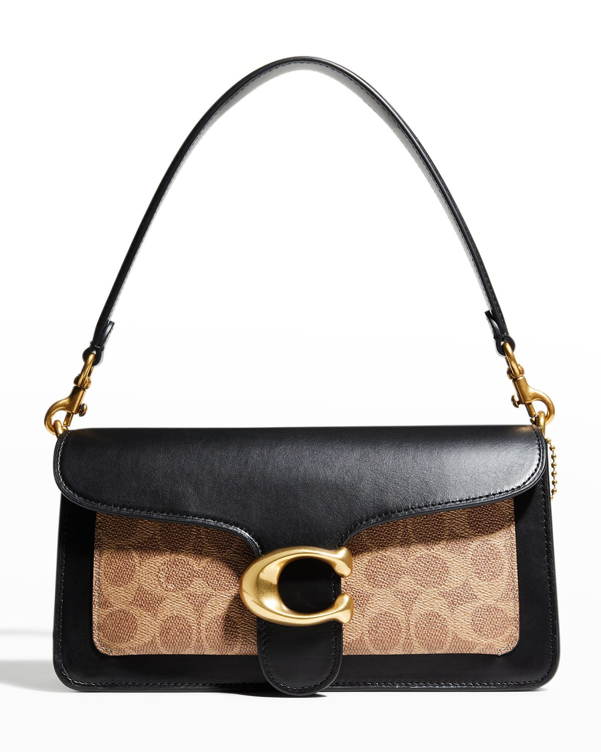 Tabby Leather & Coated Canvas Signature Shoulder Bag