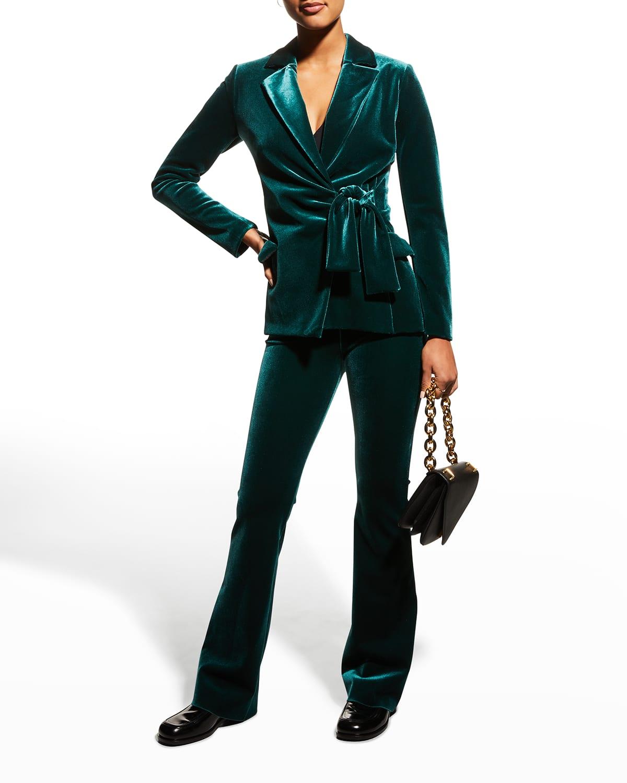 Karin Collared Velvet Jacket