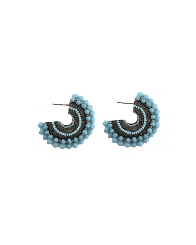 Mini Pearl Fiona Hoop Earrings