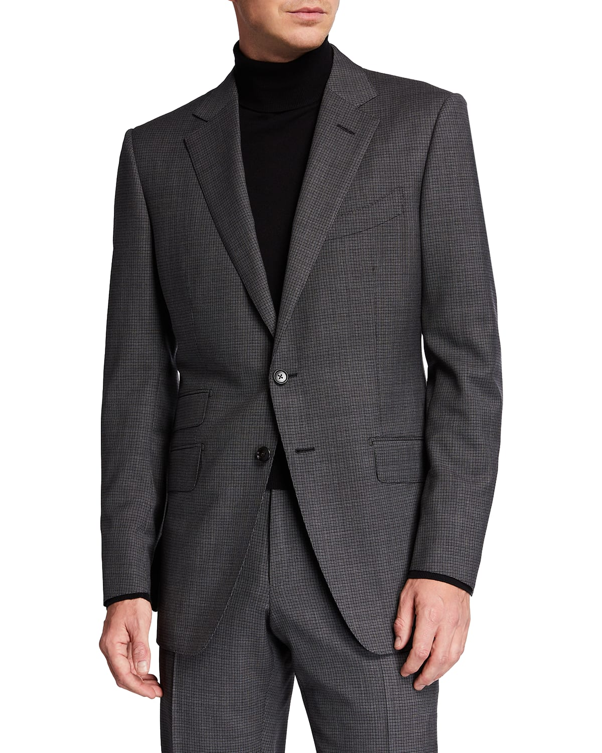 Men's O'Connor Micro-Check Wool Suit