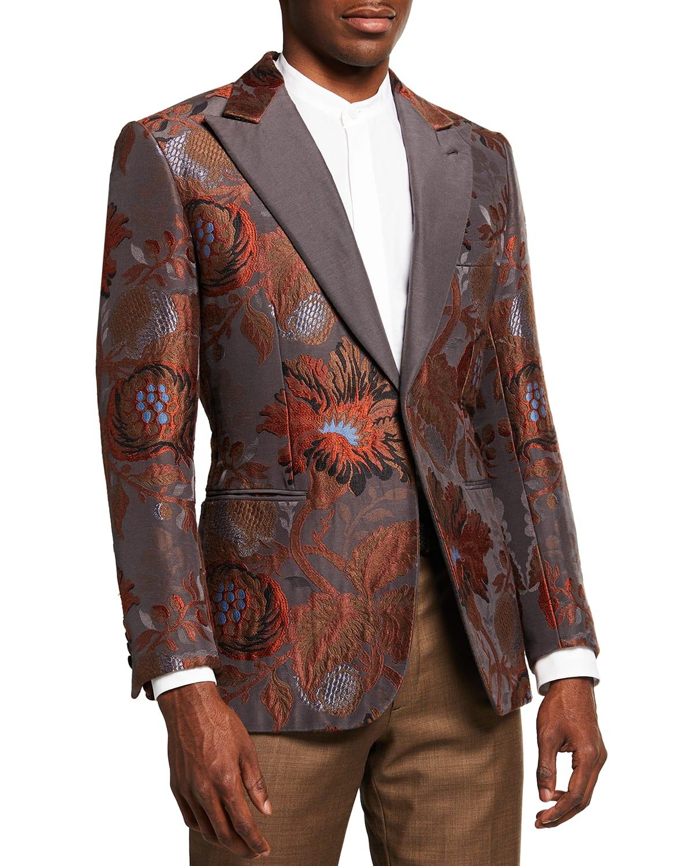Men's Embroidered Floral Dinner Jacket