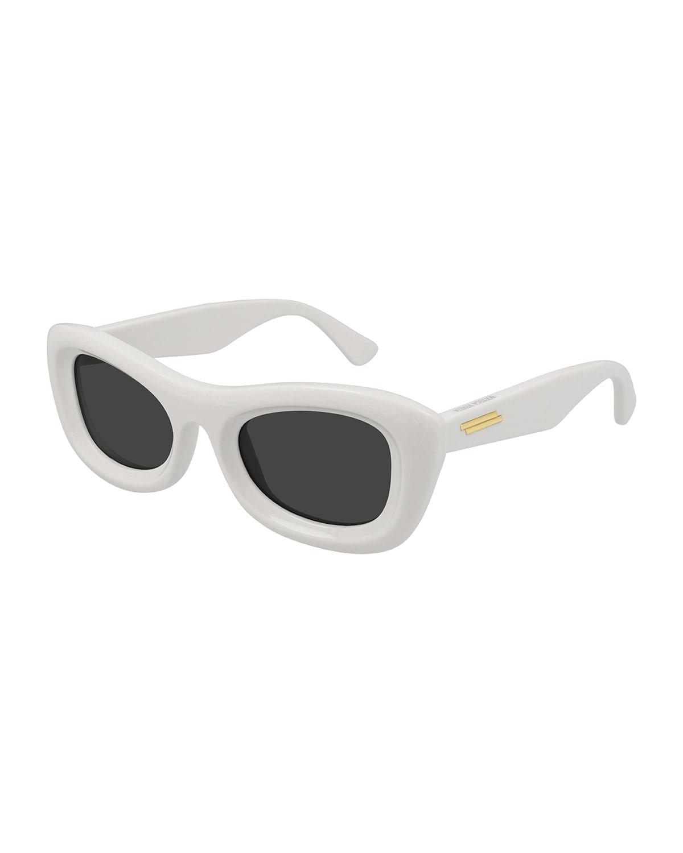 Rectangular Acetate Cat-Eye Sunglasses