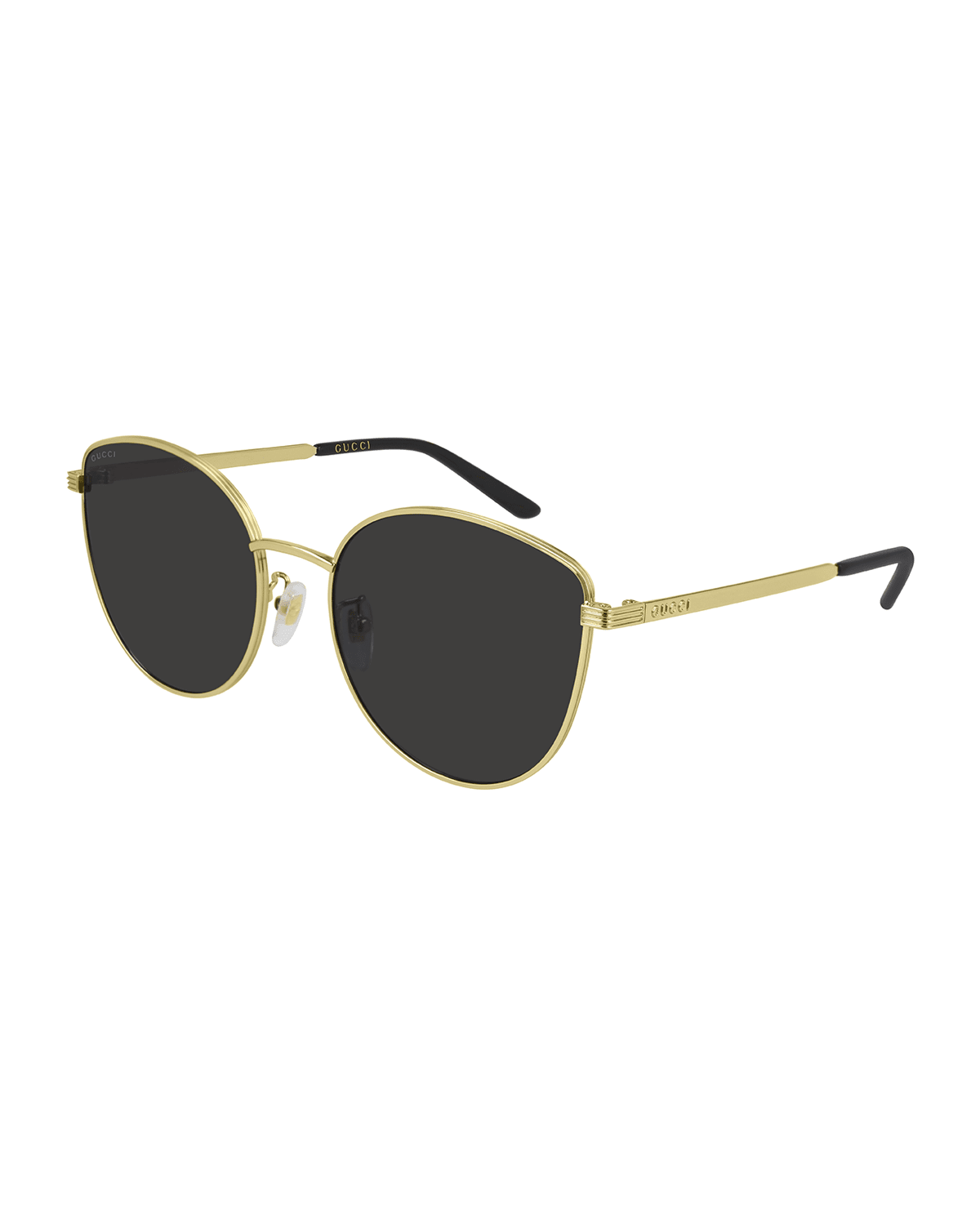 Rounded Metal Cat-Eye Sunglasses