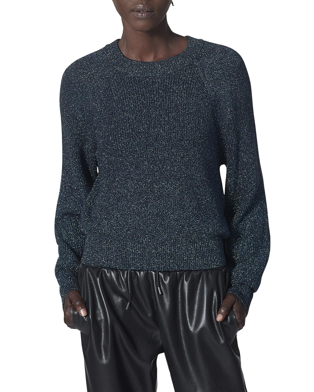 Noelia Crewneck Metallic Sweater