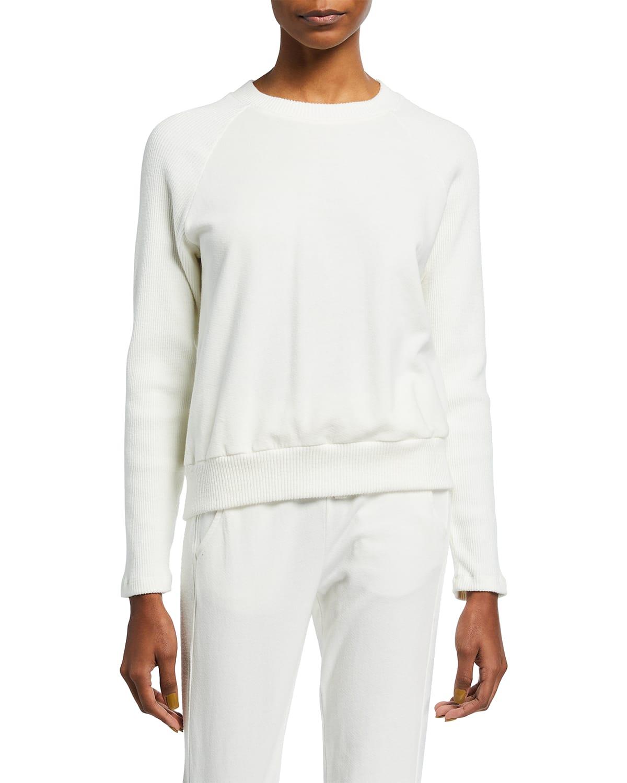 Rib Mix Raglan Sweatshirt