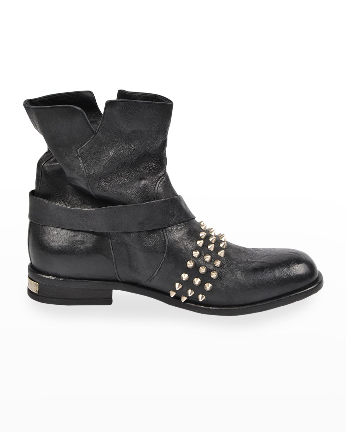 Men's Studded Leather Moto Boots