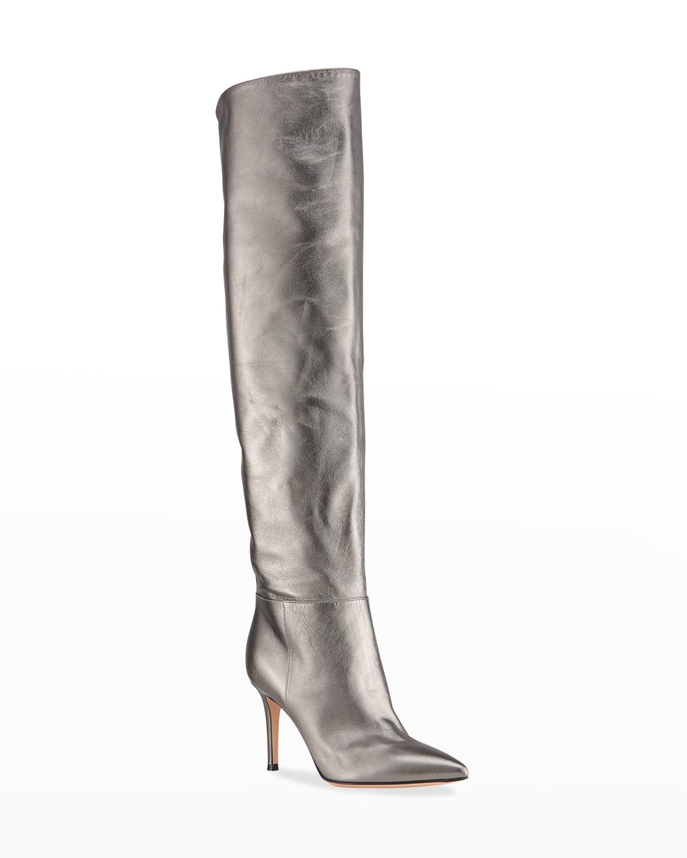 Metallic Napa 85mm Over-The-Knee Boots