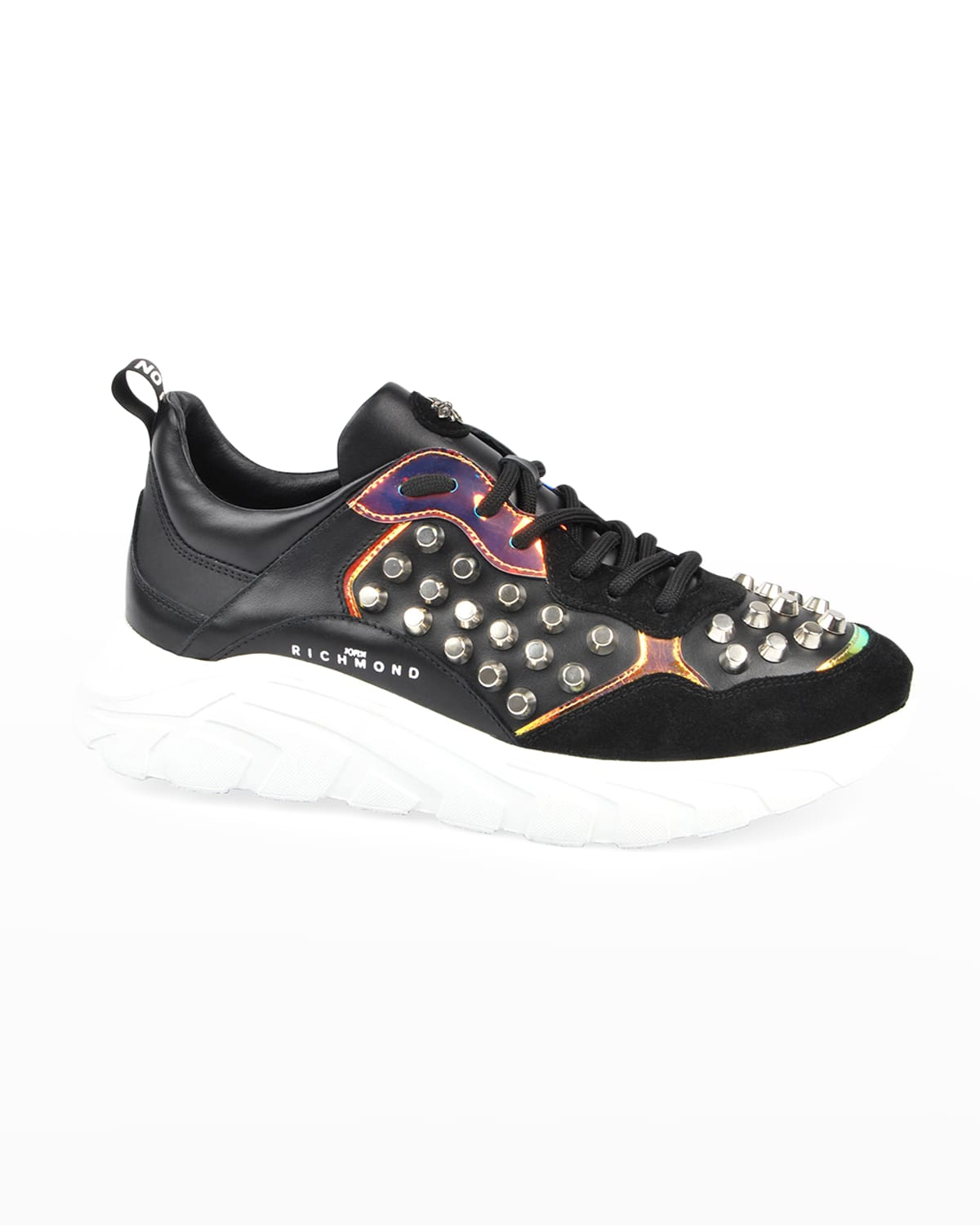 Men's Reflective Studded Low-Top Sneakers