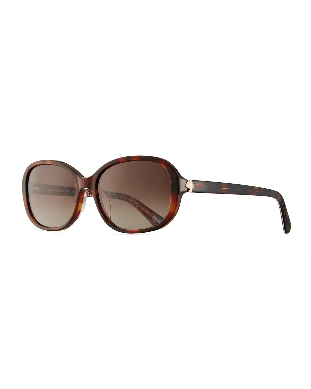 izabella square acetate sunglasses