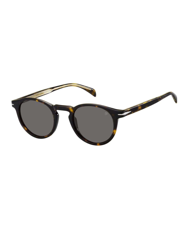 Men's Round Acetate Sunglasses