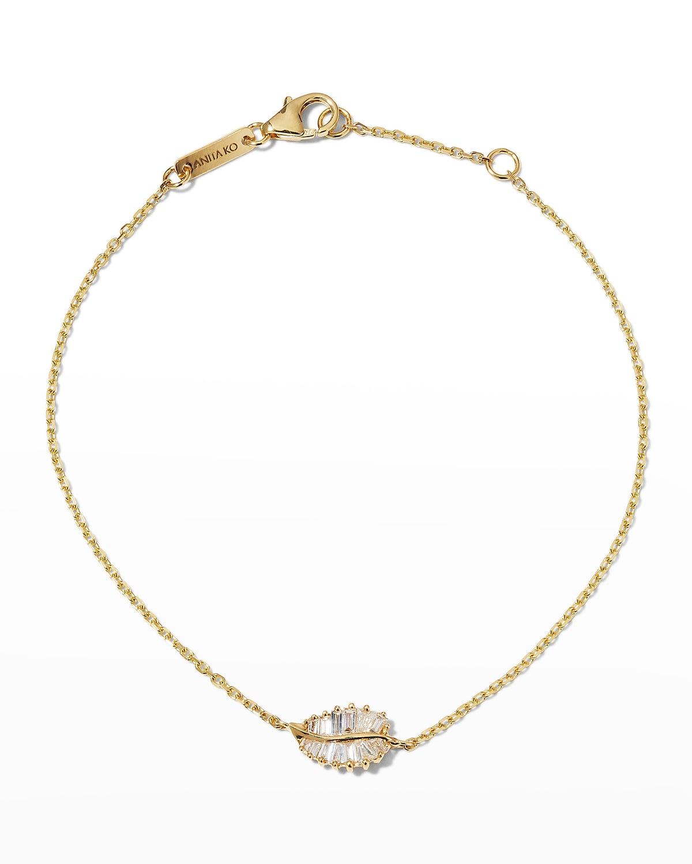 18k Gold Small Palm Leaf Bracelet
