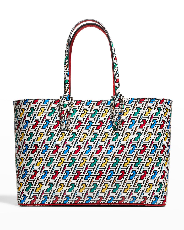 Cabata Small Multicolor Logo Patent Tote Bag
