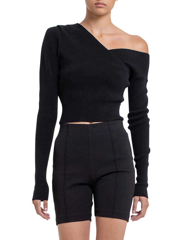 Lagos Cashmere Off-Shoulder Knit Top