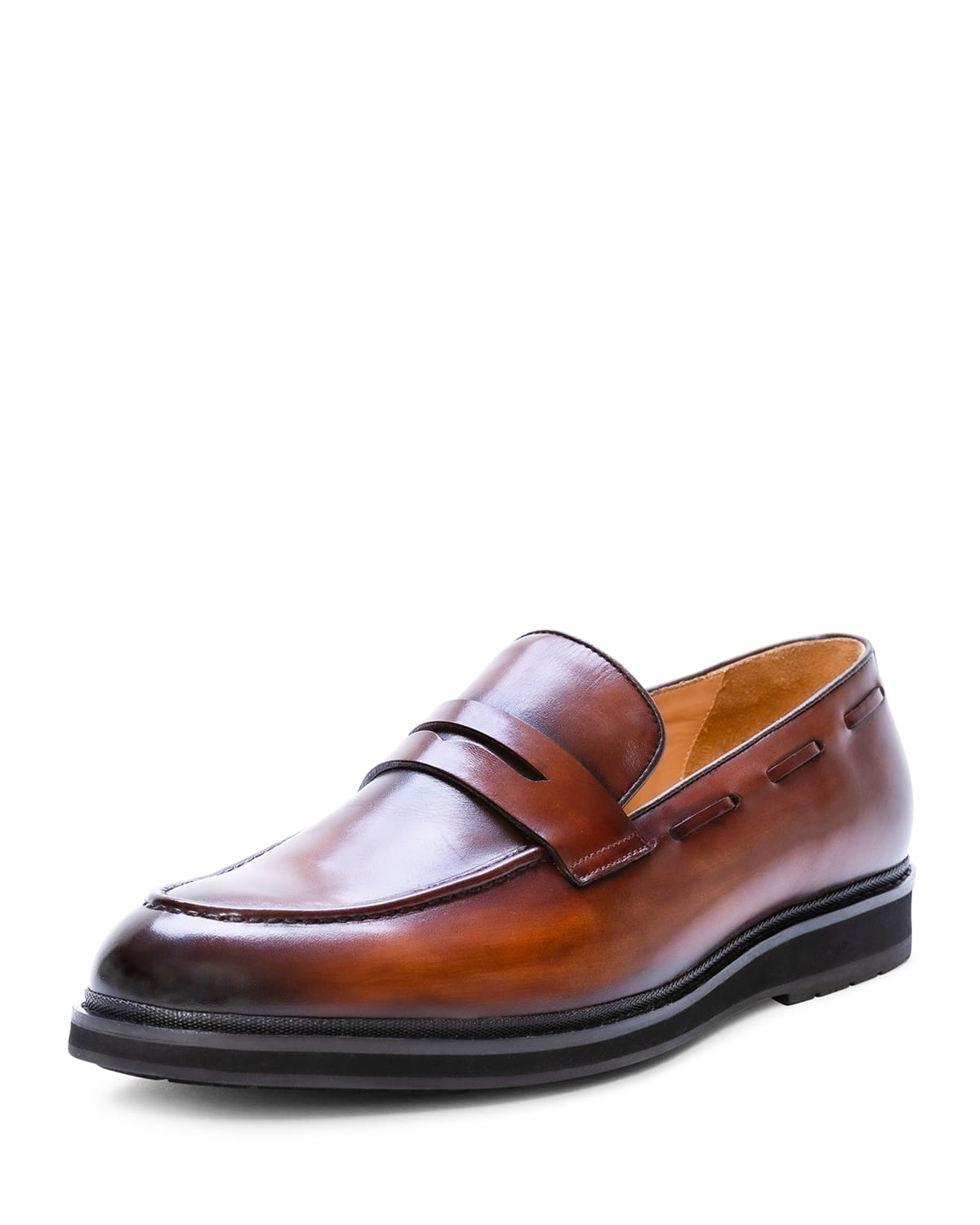 Men's Symbol Leather Penny Loafers