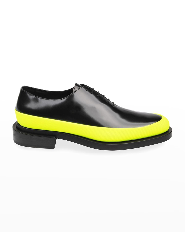 Men's Plain-Toe Leather Oxford Shoes