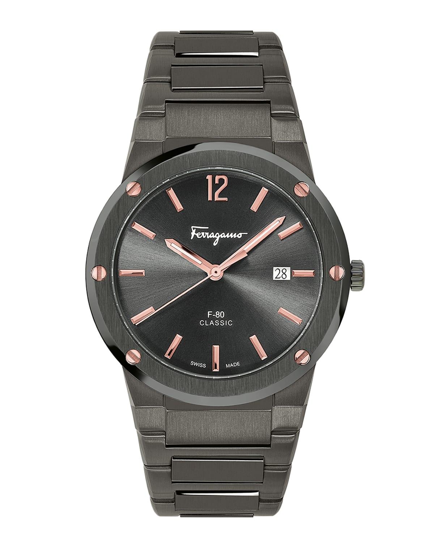 Men's 41mm F-80 IP Gunmetal Bracelet Watch