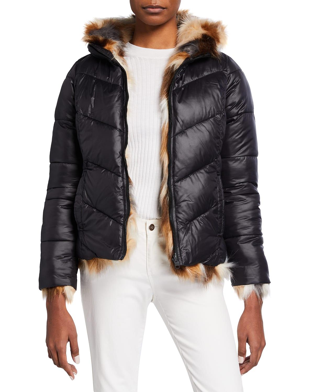 Reversible Faux-Fur Puffer Jacket