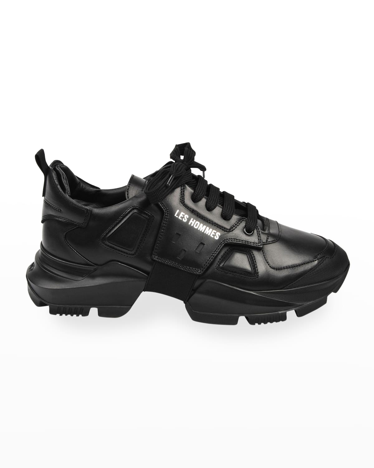 Men's Chunky Low-Top Leather Sneakers