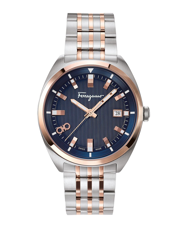 Men's 40mm Heritage Two-Tone Bracelet Watch
