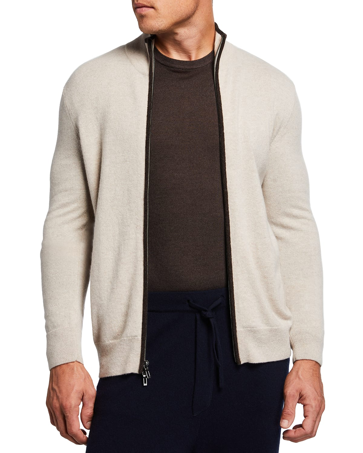 Men's Recycled Cashmere Full-Zip Sweater
