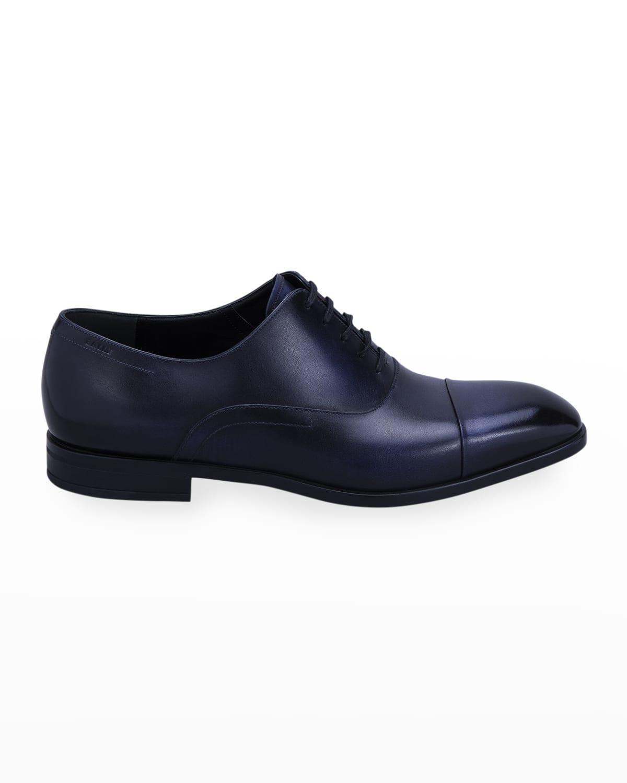 Men's Lizzar Calfskin Cap-Toe Oxfords