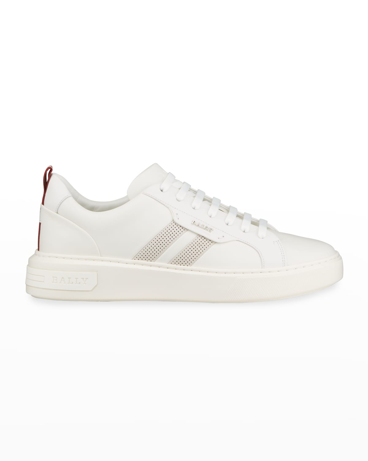 Men's Maxim 7 Striped Leather Low-Top Sneakers