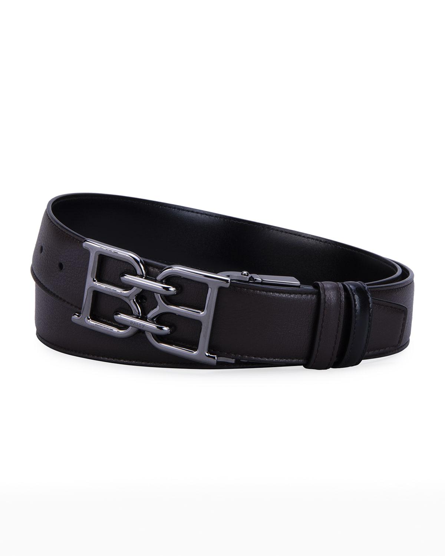 Men's B Chain 35mm Leather Belt