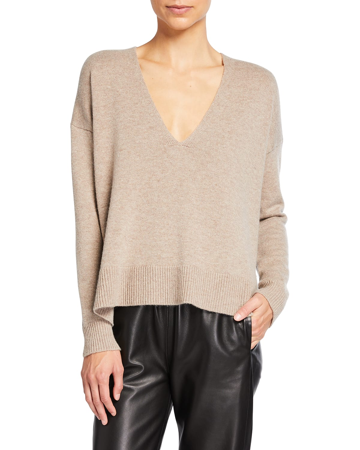 Side Vent Cashmere/Wool Sweater