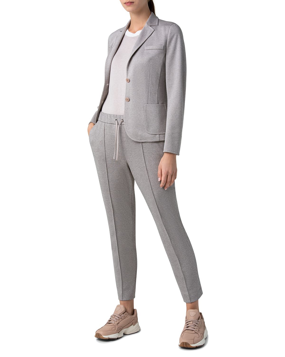 Two-Button Fitted Blazer