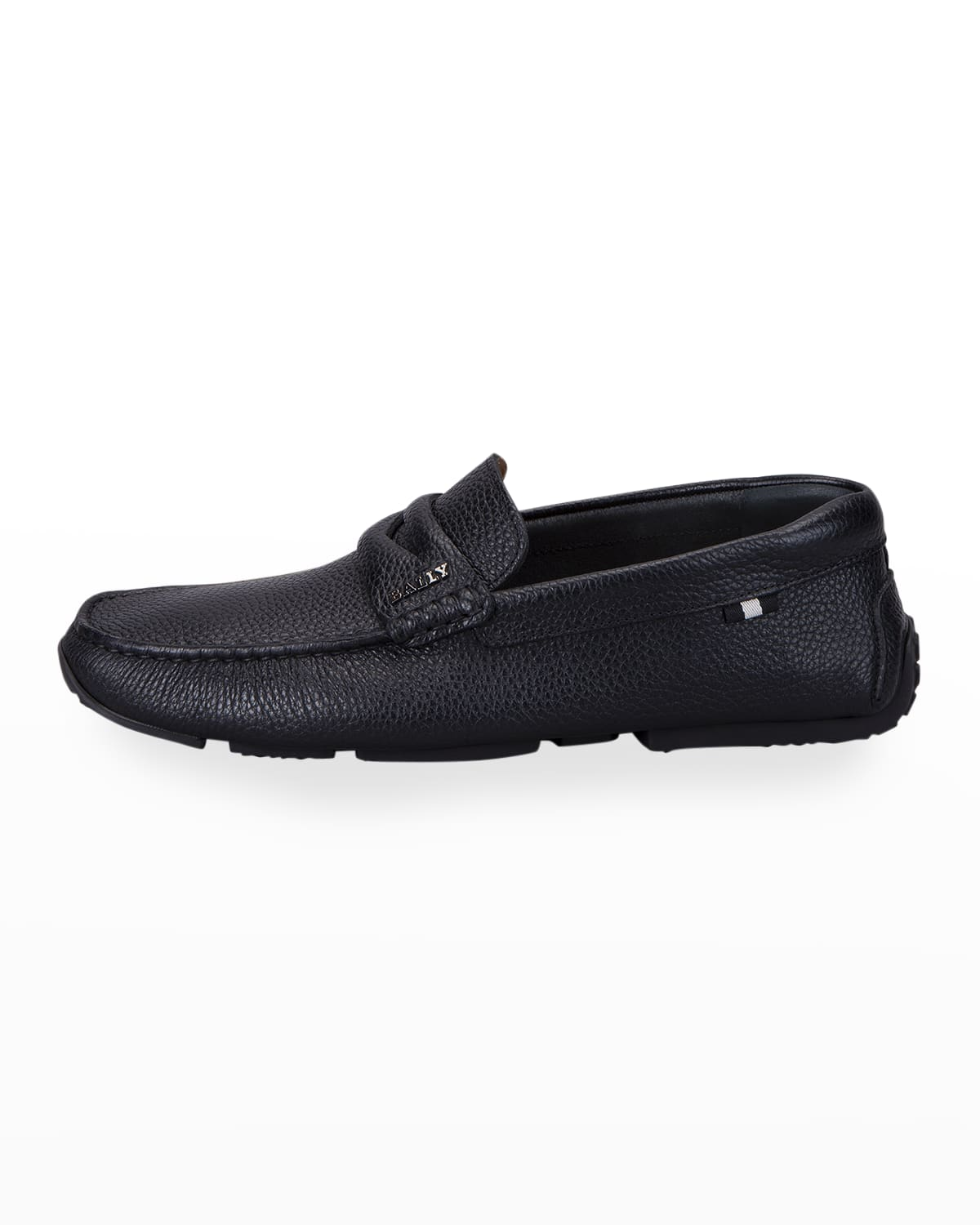 Men's Pavel Pebbled Leather Penny Loafers