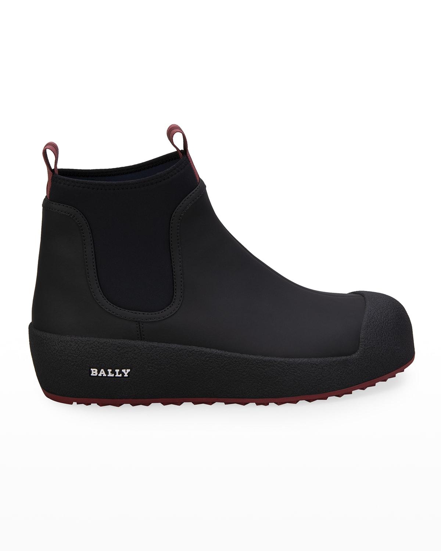 Men's Cubrid Curling Rubber & Leather Snow Boots