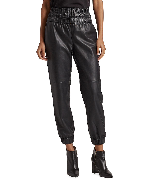 Wadley Faux-Leather Jogger Pants