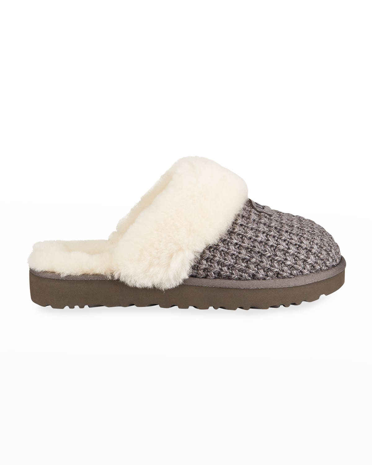 Cozy Knit Shearling Slippers