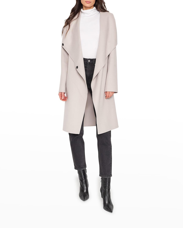 Kiera Shawl-Collar Wool Coat