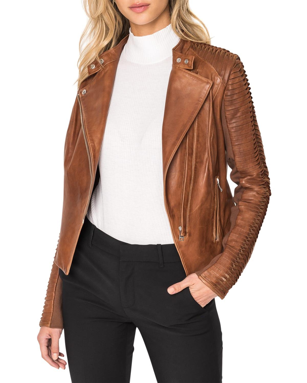 Azra Leather Moto Jacket