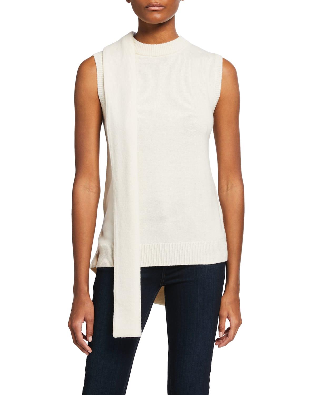Ilia Wool-Cashmere Sleeveless Wrap Sweater