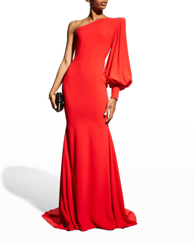Marin One-Shoulder Gown