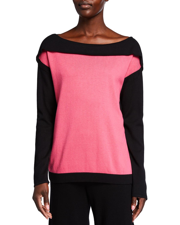 Boat-Neck Colorblock Sweater
